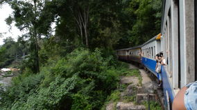 Passenger train. In Thailand stock video footage