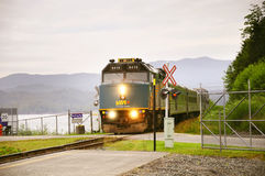 Passenger train to Prince George. Stock Images