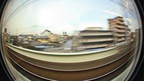 Passenger Train Tokyo Fisheye stock footage