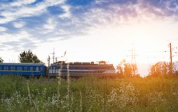 Train travelling Stock Photography