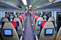 Passenger train in UK Stock Photo