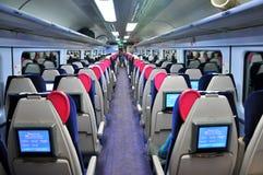Passenger train in UK Stock Photo