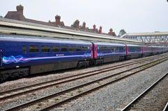Passenger train in UK Stock Photography