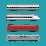 Passenger trains Royalty Free Stock Photo