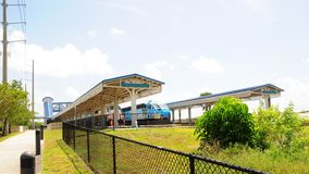 Passenger trains in station, Florida Royalty Free Stock Photography