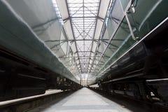Passenger trains transmission detail Stock Photo