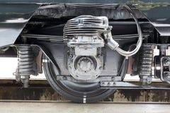 Passenger trains transmission tires Stock Photography