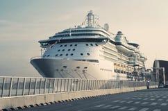 Passenger Transatlantic Cruise Liner Stock Photo