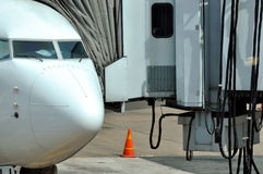 Passenger transport equipment and plane Royalty Free Stock Photography
