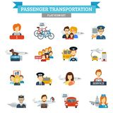 Passenger Transportation Icon Flat Stock Image