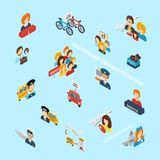Passenger Transportation Isometric Stock Image