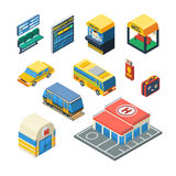Passenger Transportation Isometric Icons Royalty Free Stock Images
