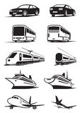 Passenger transportation in perspective. Vector illustration Stock Photography