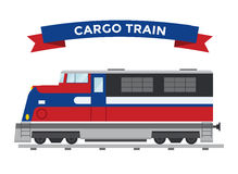 Passenger and transportation trains vector Stock Image
