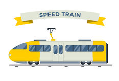 Passenger and transportation trains vector Royalty Free Stock Photo
