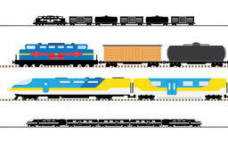 Passenger and transportation trains Stock Photography