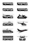 Passenger transportation vehicles Stock Photo