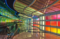 Passenger Tunnel, Chicago O'Hare Airport Stock Image