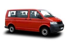 Passenger Van. Red Passenger Van Isolated on White Royalty Free Stock Photos