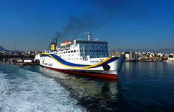 Passenger And Vehicle Ferry Stock Images