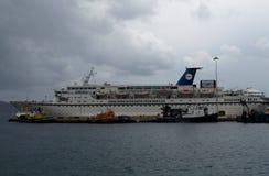 Passenger And Vehicle Ferry Stock Photo