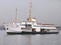 Passenger vessel. A classic steamboat transports about 500 persons per link to/from Asian side of Istanbul Stock Images