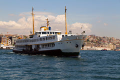 Passenger vessel in Bosporus Stock Photo