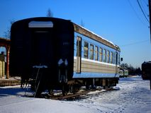 Passenger waggon. Unused passenger wagon at train museum Stock Photos