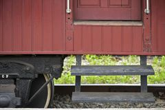 Passenger wagon of old steam train. Still functioning as a tourist attraction Stock Photography