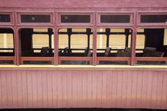 Passenger wagon of old steam train. Still functioning as a tourist attraction Royalty Free Stock Photography