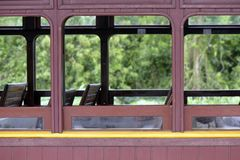 Passenger wagon of old steam train. Still functioning as a tourist attraction Royalty Free Stock Image