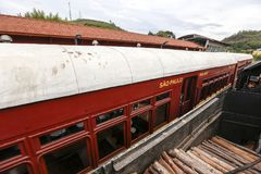 Passenger wagon of old steam train. Still functioning as a tourist attraction Royalty Free Stock Photo