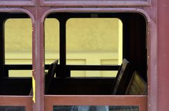 Passenger wagon of old steam train. Still functioning as a tourist attraction Royalty Free Stock Images