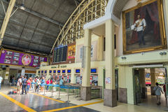 Passenger wait at the queue for buy train ticket in Train station Bangkok Thailand stock images