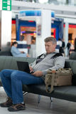 Passenger waiting for flight Stock Photo