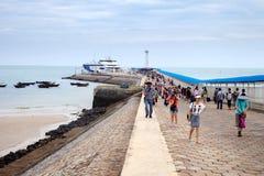 Passenger wharf,Weizhou Island,China Royalty Free Stock Photo