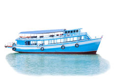 Passenger wooden boat in tourist business in thailand floating o Royalty Free Stock Photography