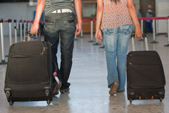 Passengers at the airport Royalty Free Stock Image