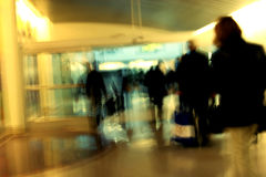 Passengers at the airport Stock Photography