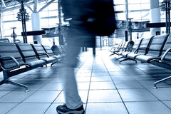 Passengers in airport Royalty Free Stock Photo