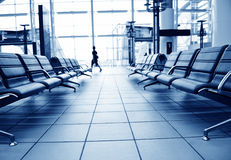 Passengers in airport royalty free stock photography