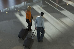 Passengers in the airport Royalty Free Stock Image