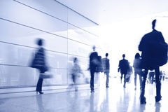 Passengers in the airport interior Royalty Free Stock Photo