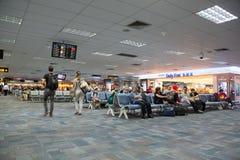 Passengers in the airport island Phuket Stock Image