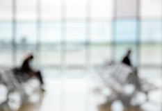 Passengers in the airport lounge Royalty Free Stock Photos