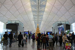Passengers in the airport main lobby Royalty Free Stock Photography