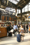 Passengers arrive at the Gare de Lyon Stock Image