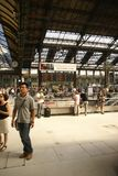 Passengers arrive at the Gare de Lyon Royalty Free Stock Photos