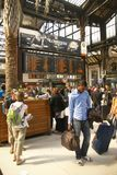 Passengers arrive at the Gare de Lyon Stock Photo