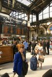 Passengers arrive at the Gare de Lyon Royalty Free Stock Photo